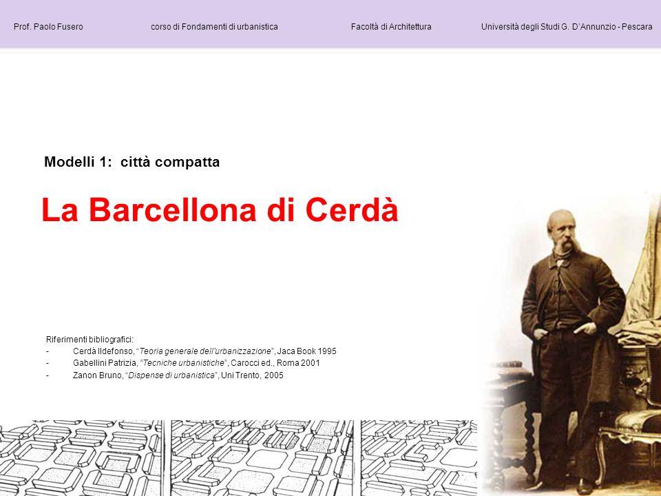 La Barcellona di Cerdà Modelli 1: città compatta