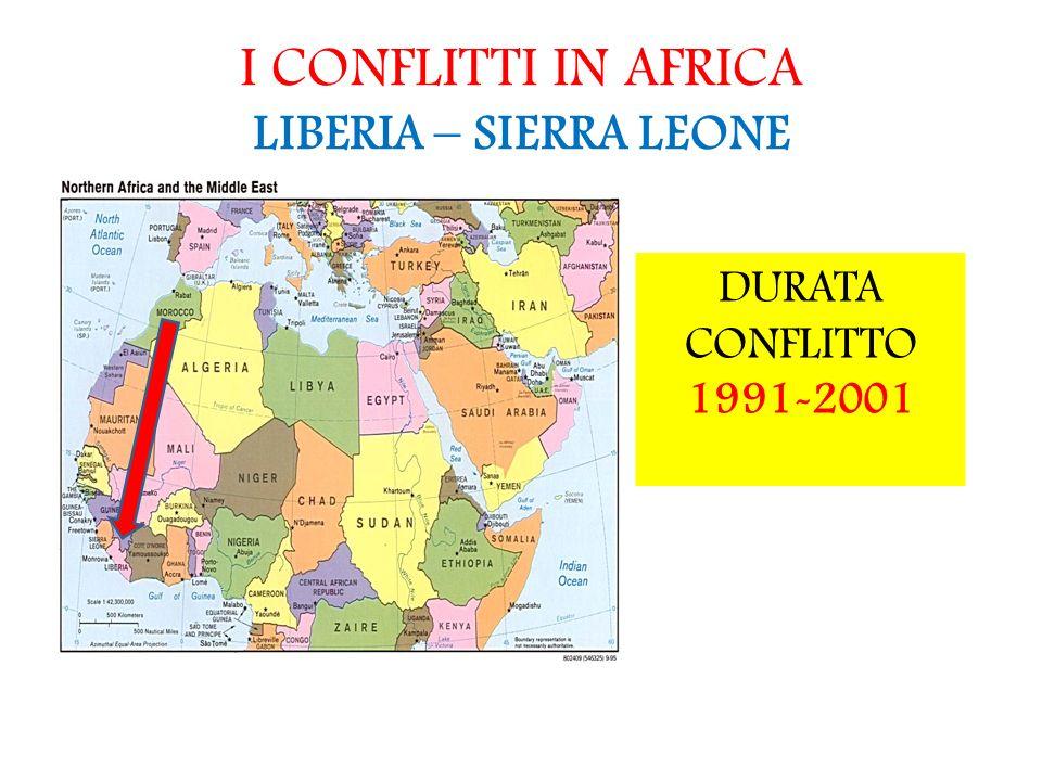I CONFLITTI IN AFRICA LIBERIA – SIERRA LEONE