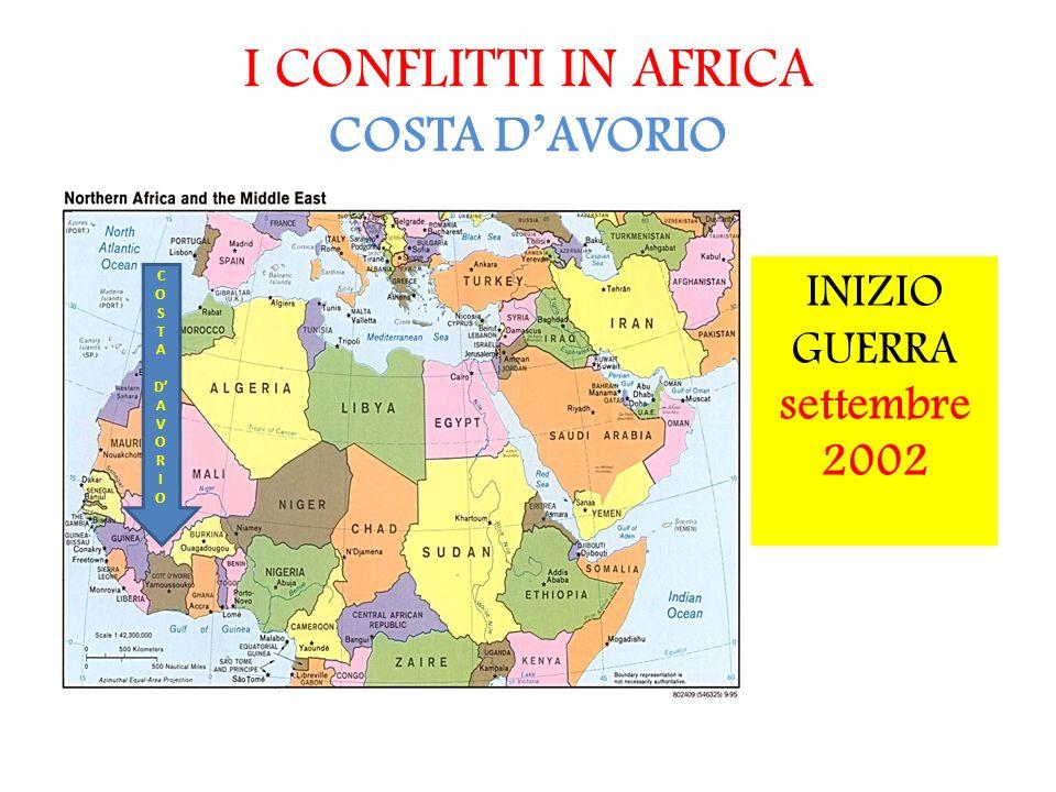 I CONFLITTI IN AFRICA COSTA D'AVORIO