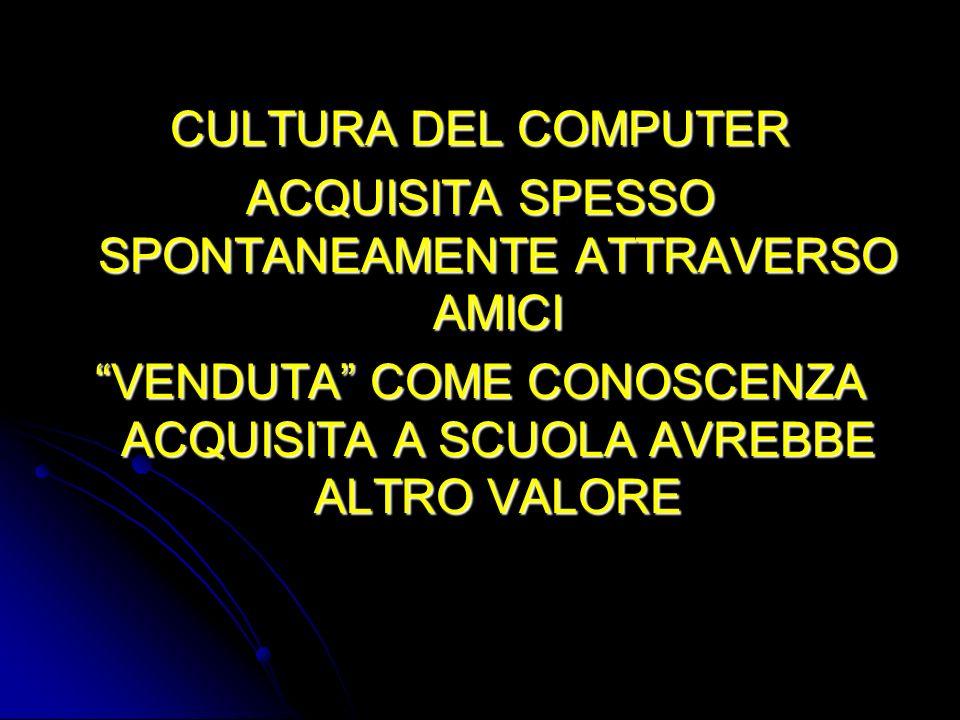 ACQUISITA SPESSO SPONTANEAMENTE ATTRAVERSO AMICI