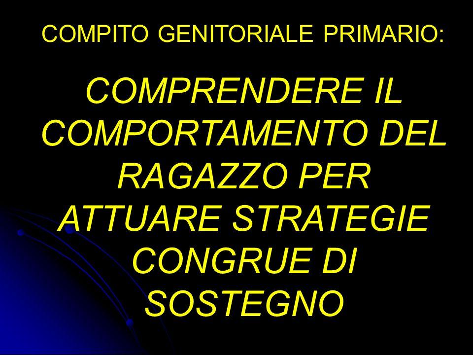 COMPITO GENITORIALE PRIMARIO: