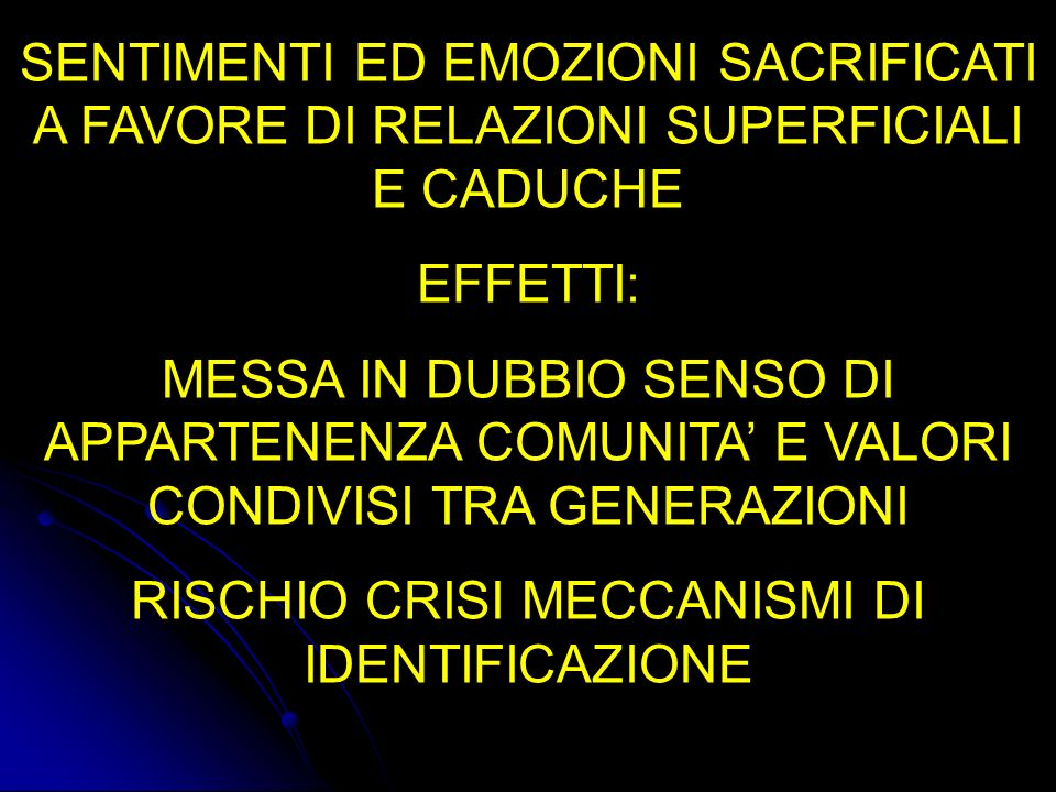 RISCHIO CRISI MECCANISMI DI IDENTIFICAZIONE