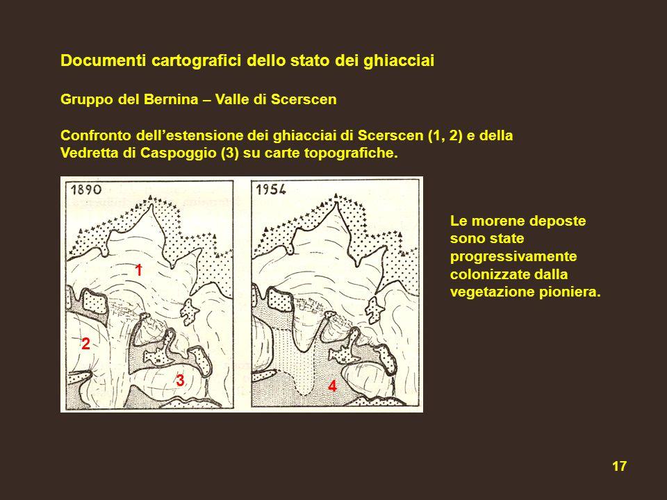 Documenti cartografici dello stato dei ghiacciai