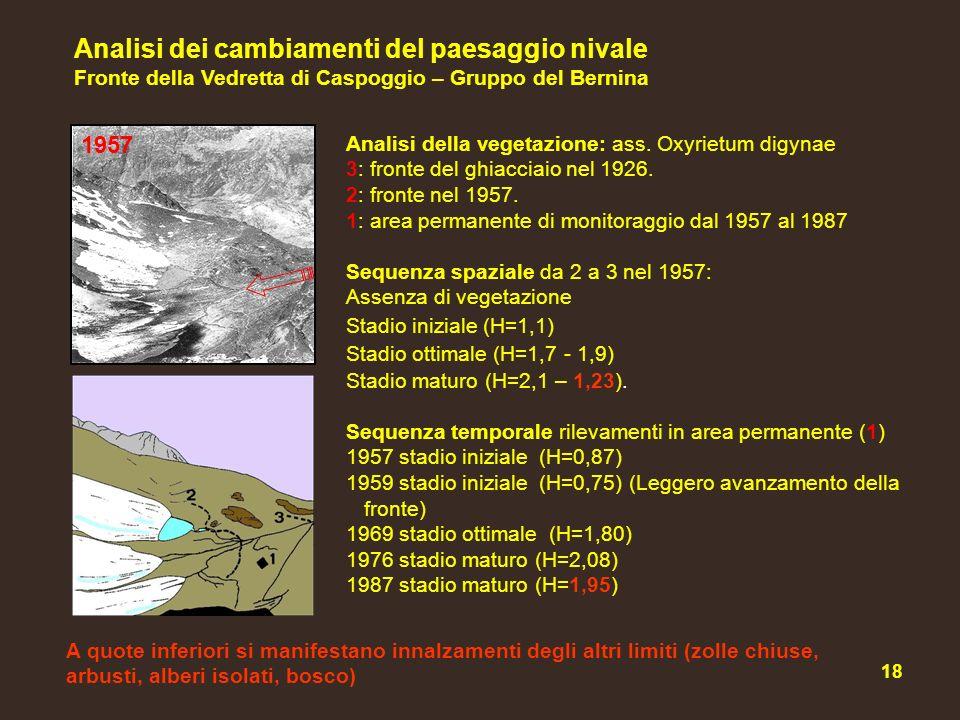 Analisi dei cambiamenti del paesaggio nivale