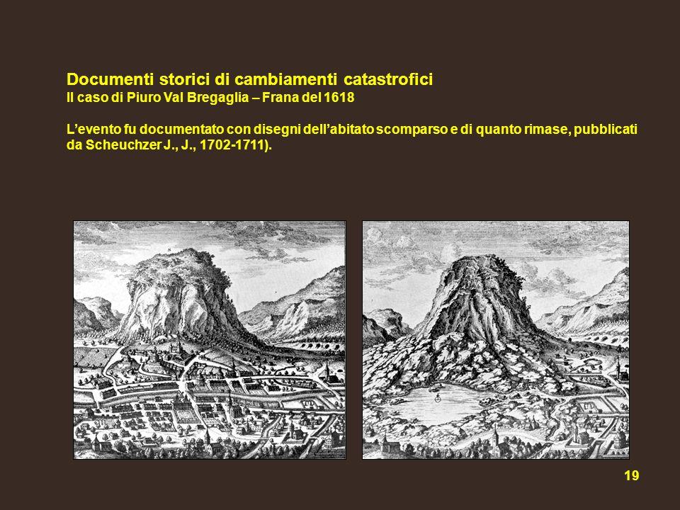 Documenti storici di cambiamenti catastrofici