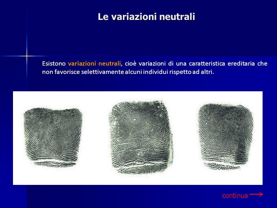 Le variazioni neutrali