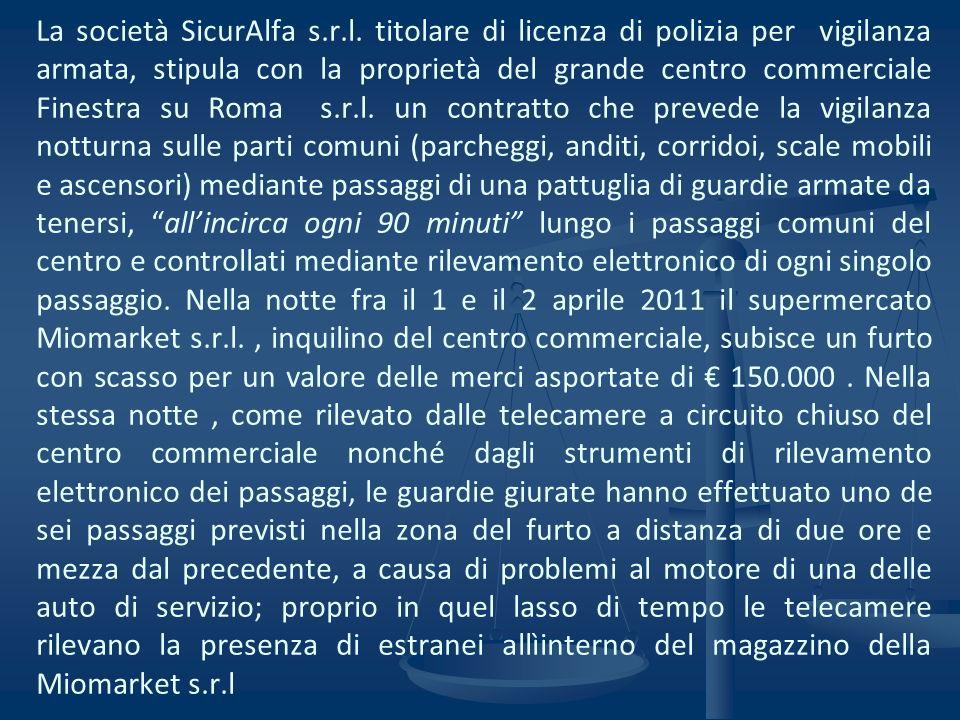 La società SicurAlfa s. r. l