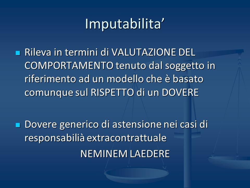 Imputabilita'