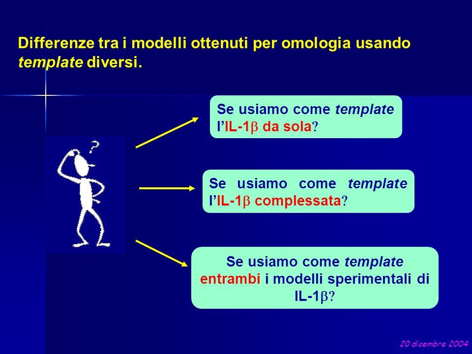 Se usiamo come template entrambi i modelli sperimentali di IL-1b
