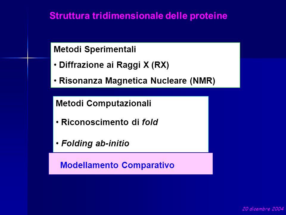 Struttura tridimensionale delle proteine