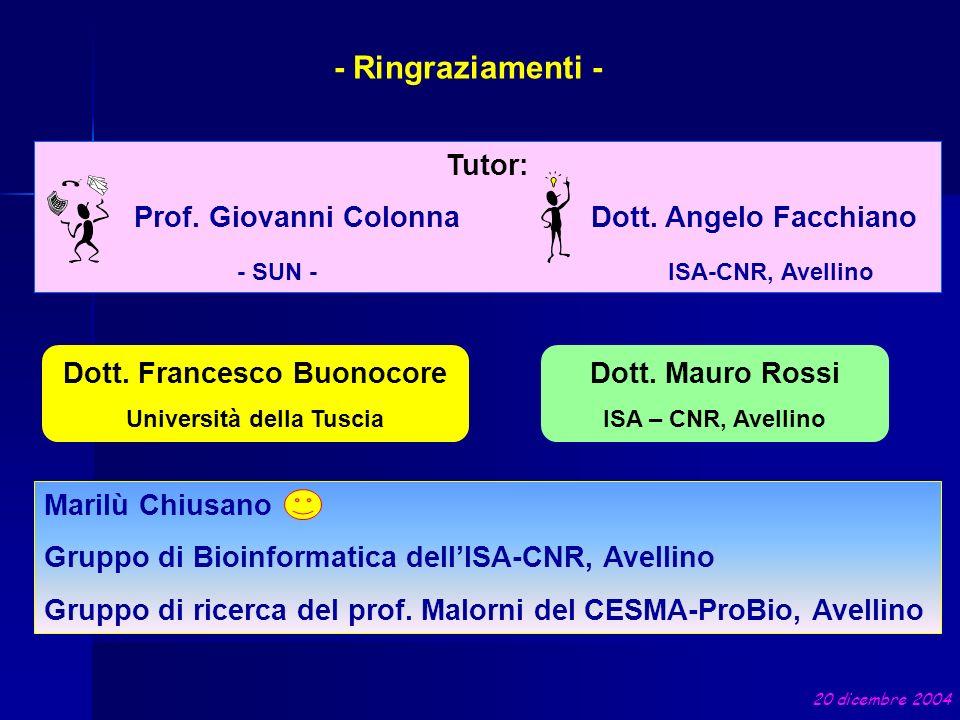 Dott. Francesco Buonocore Università della Tuscia