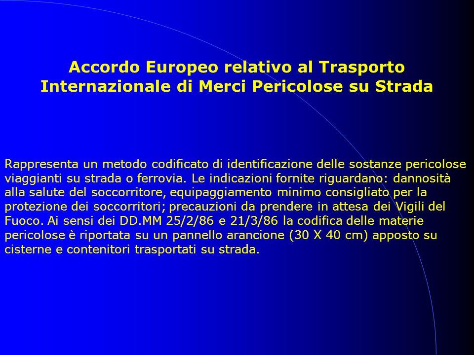 Accordo Europeo relativo al Trasporto Internazionale di Merci Pericolose su Strada