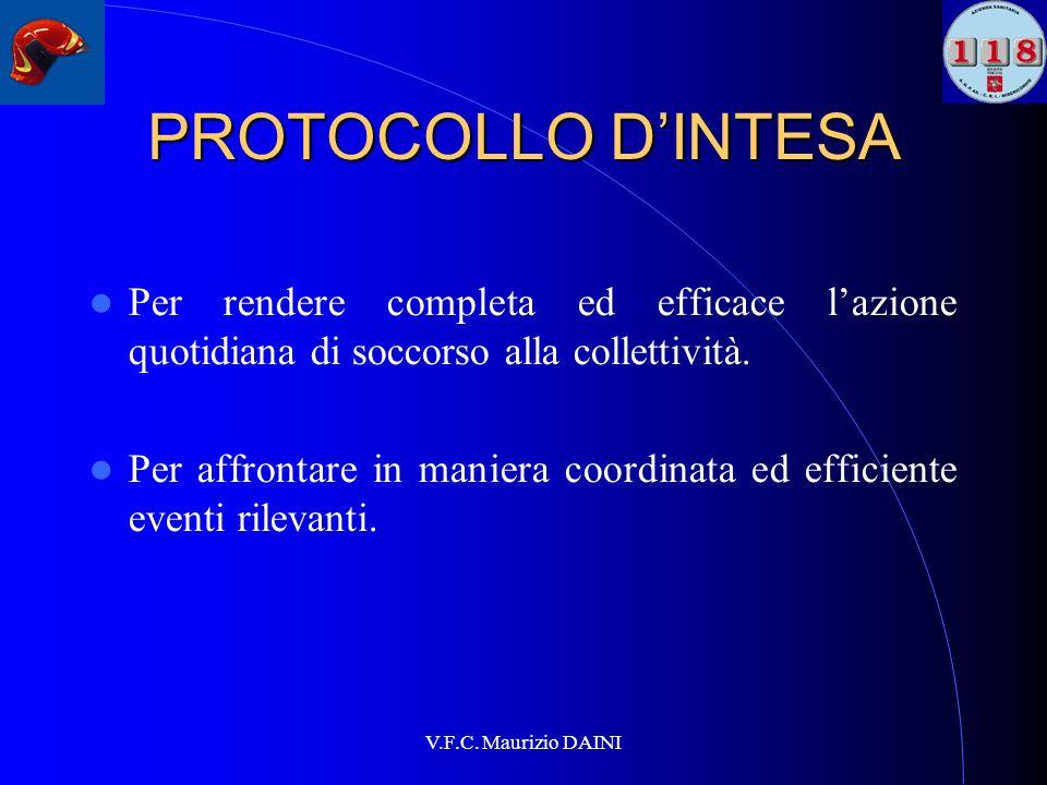 PROTOCOLLO D'INTESAPer rendere completa ed efficace l'azione quotidiana di soccorso alla collettività.