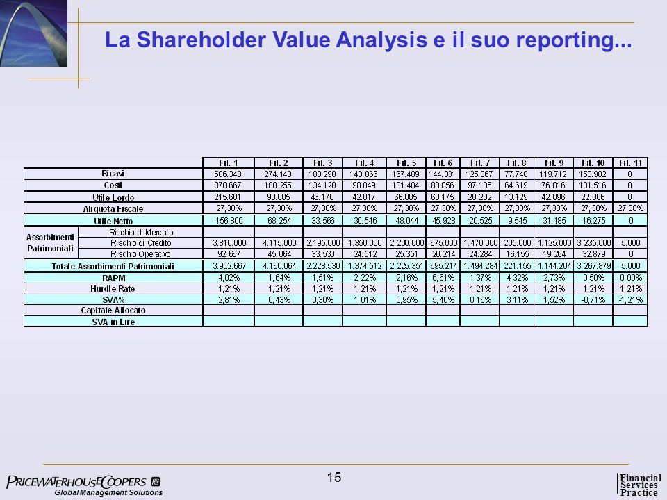 La Shareholder Value Analysis e il suo reporting...