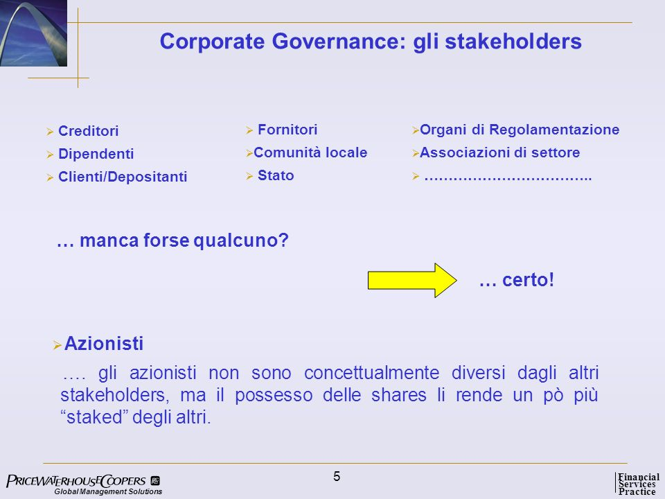 Corporate Governance: gli stakeholders