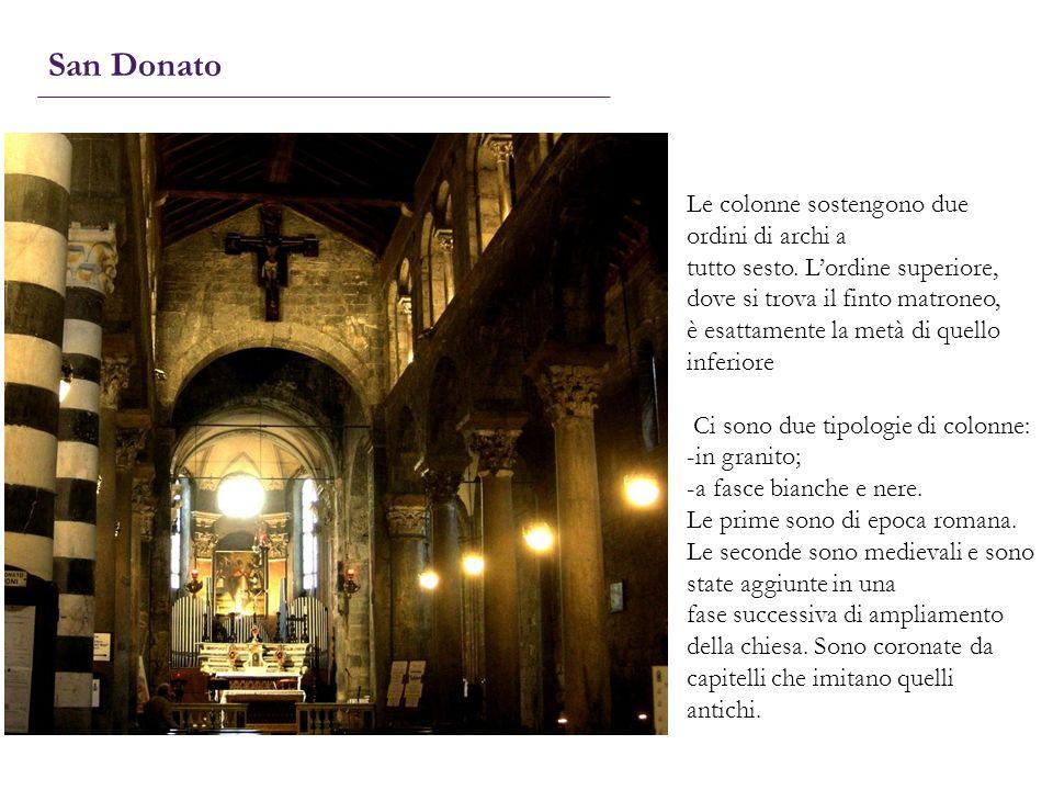 San Donato Le colonne sostengono due ordini di archi a
