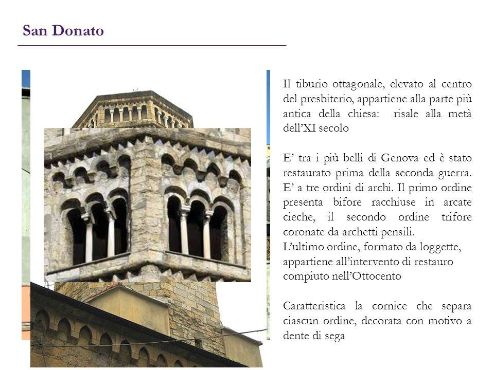 San Donato Il tiburio ottagonale, elevato al centro del presbiterio, appartiene alla parte più antica della chiesa: risale alla metà dell'XI secolo.