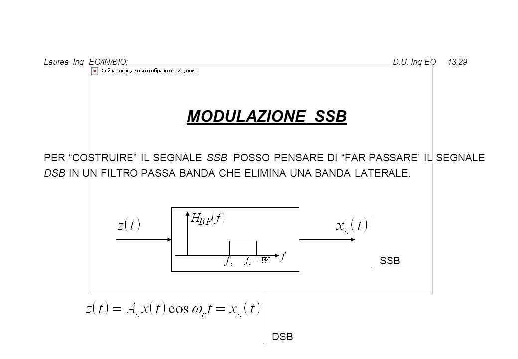 Laurea Ing EO/IN/BIO; D.U. Ing EO 13.29