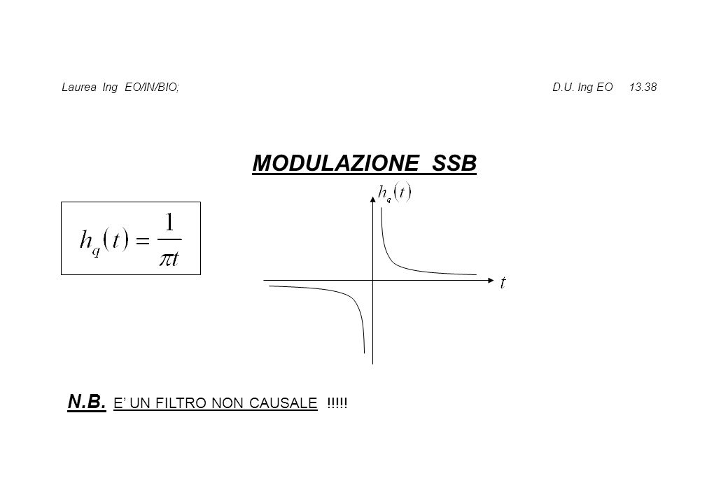 Laurea Ing EO/IN/BIO; D.U. Ing EO 13.38