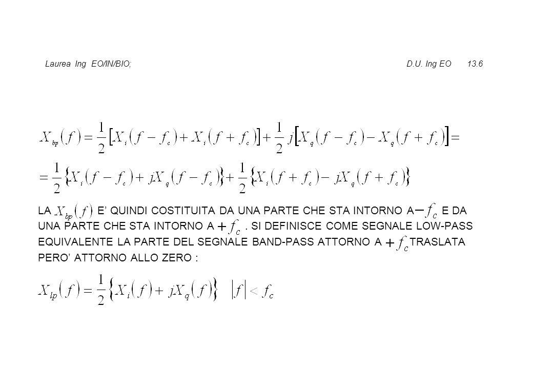 Laurea Ing EO/IN/BIO; D.U. Ing EO 13.6