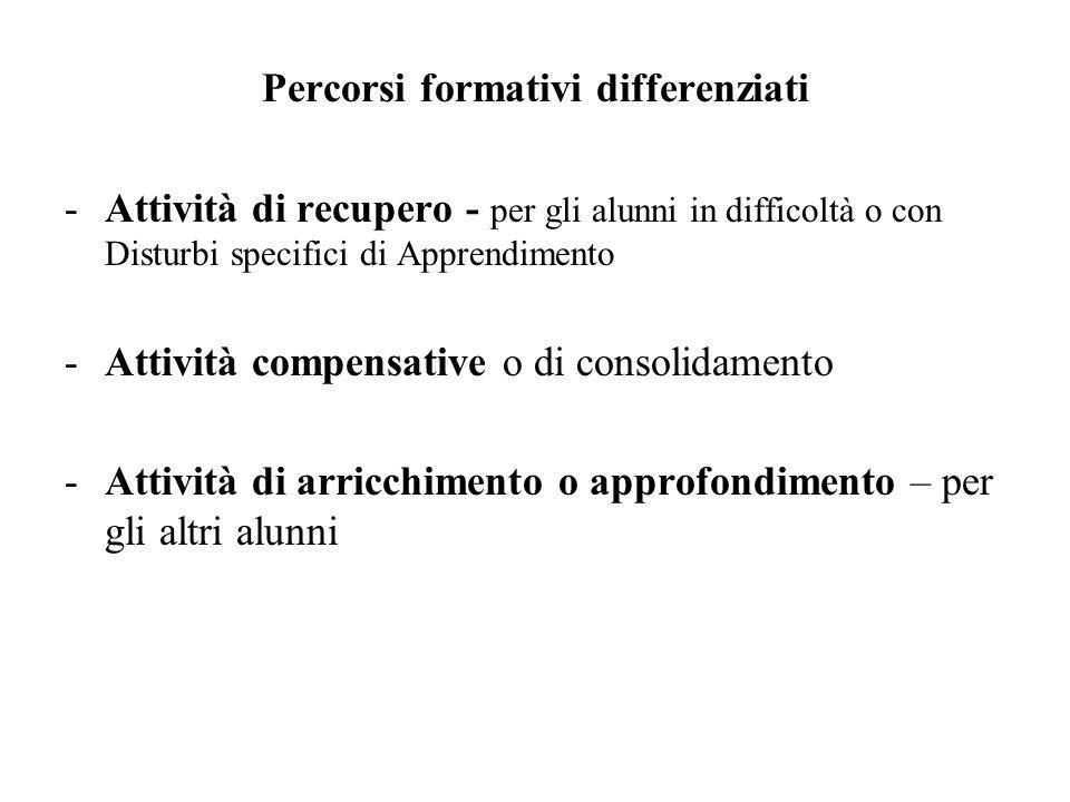 Percorsi formativi differenziati