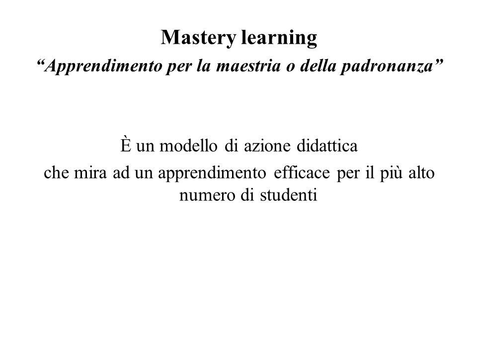 Apprendimento per la maestria o della padronanza
