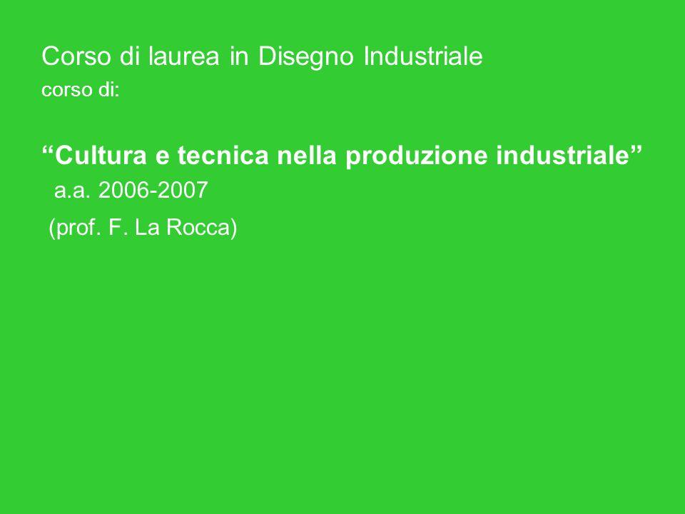 Corso di laurea in Disegno Industriale