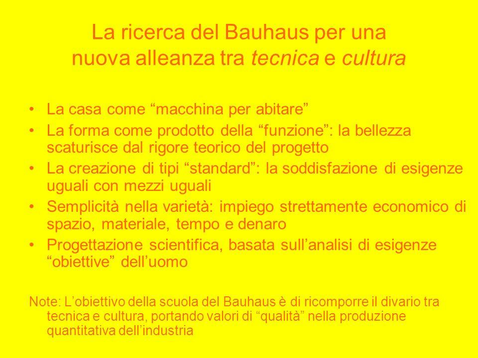 La ricerca del Bauhaus per una nuova alleanza tra tecnica e cultura