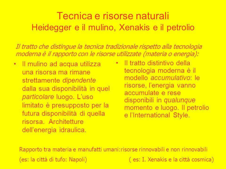 Tecnica e risorse naturali Heidegger e il mulino, Xenakis e il petrolio