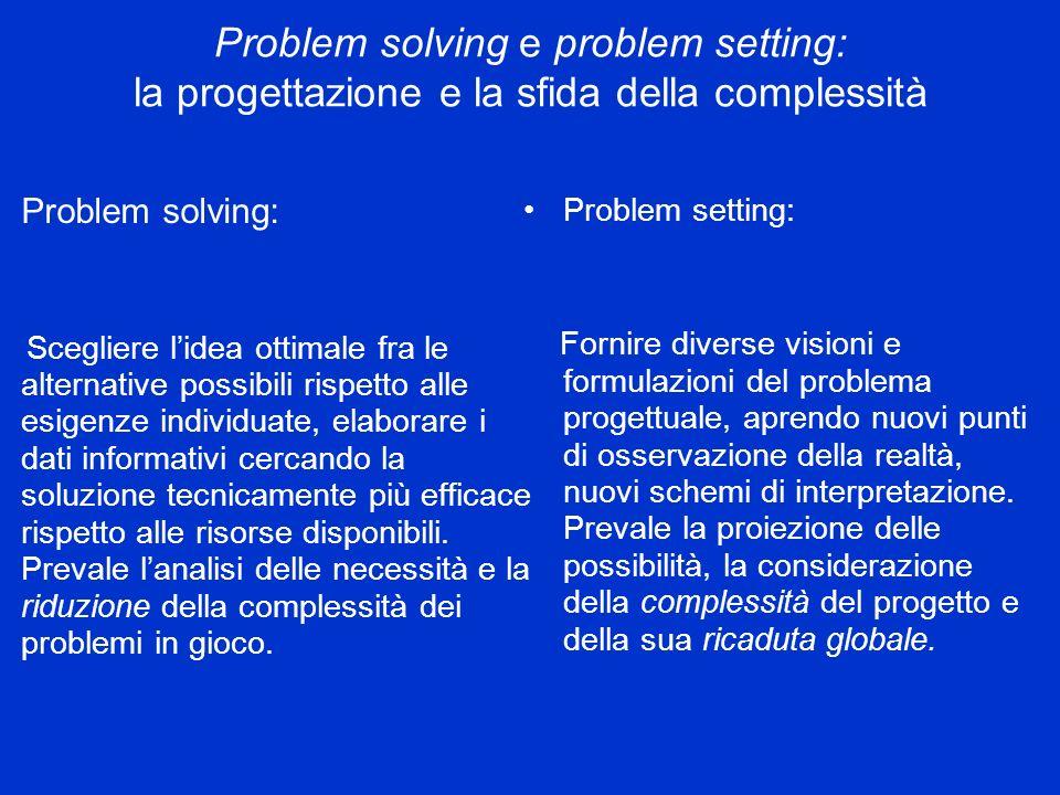 Problem solving e problem setting: la progettazione e la sfida della complessità