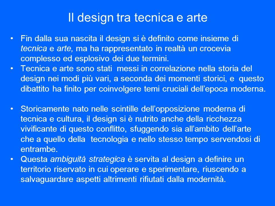 Il design tra tecnica e arte