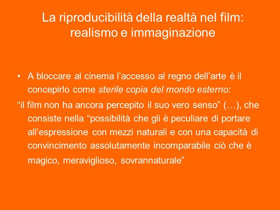 La riproducibilità della realtà nel film: realismo e immaginazione