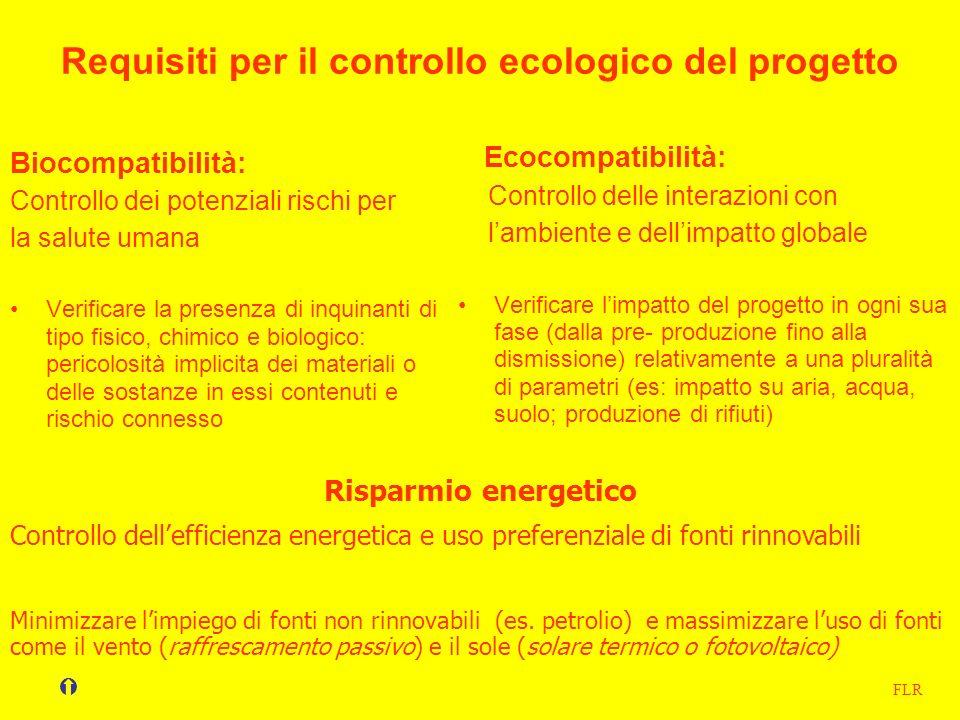 Requisiti per il controllo ecologico del progetto