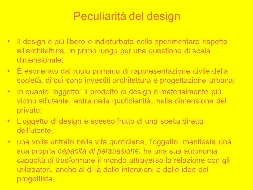 Peculiarità del design