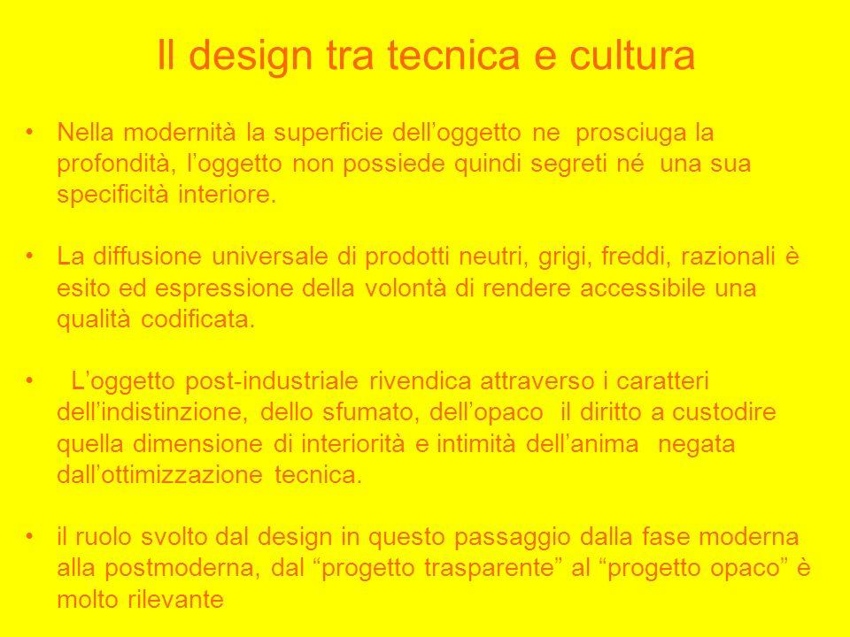 Il design tra tecnica e cultura