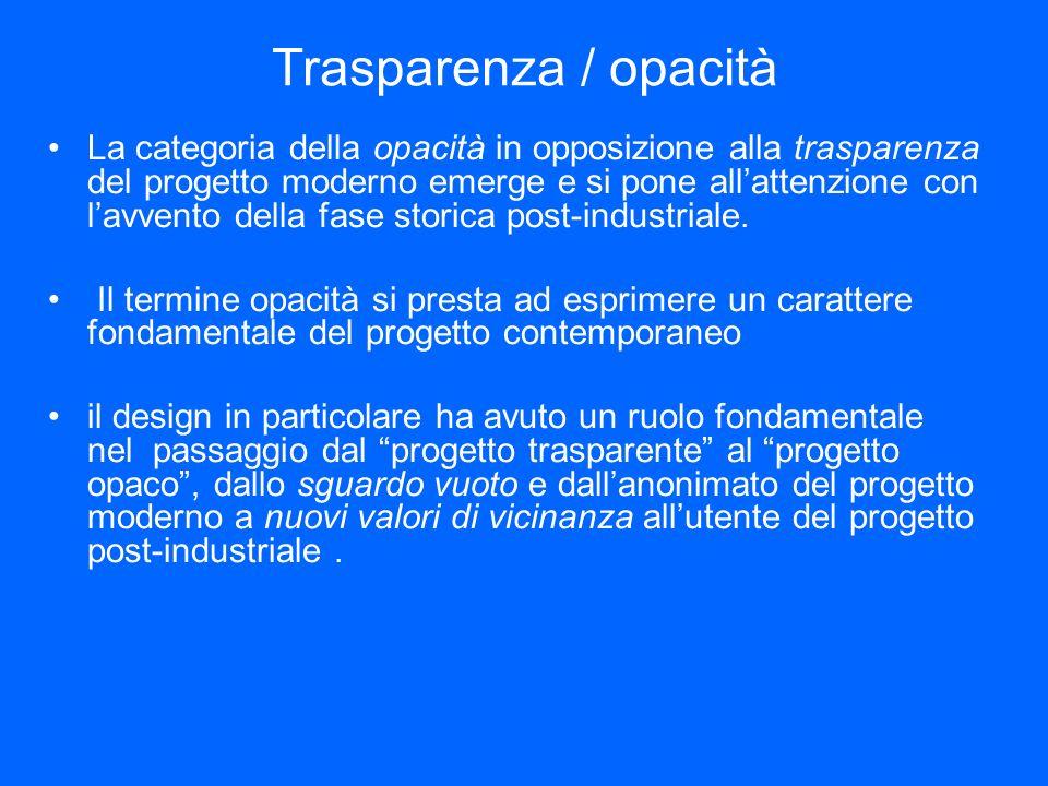 Trasparenza / opacità