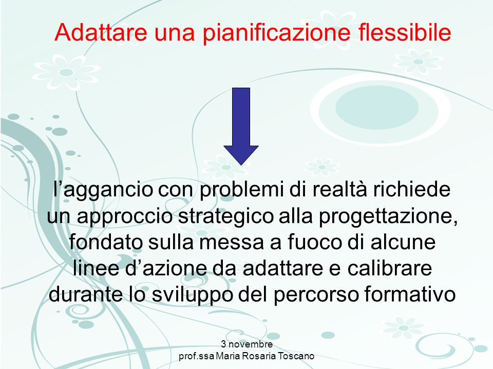 Adattare una pianificazione flessibile