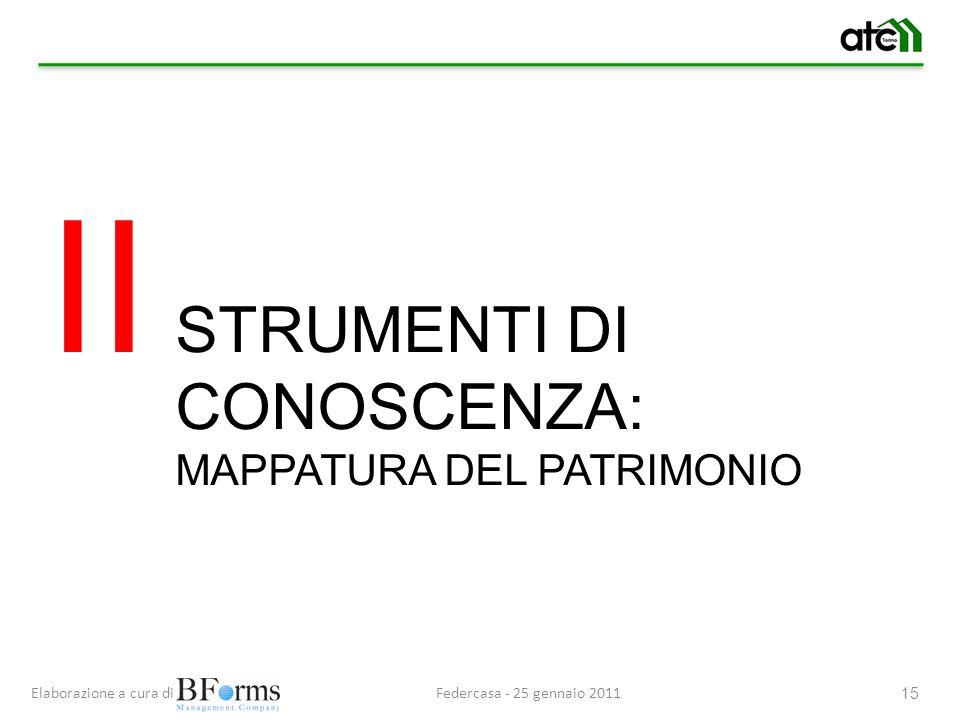 II STRUMENTI DI CONOSCENZA: MAPPATURA DEL PATRIMONIO