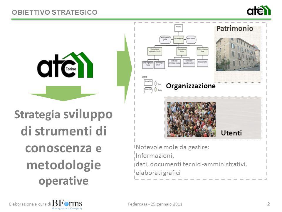 Strategia sviluppo di strumenti di conoscenza e metodologie operative