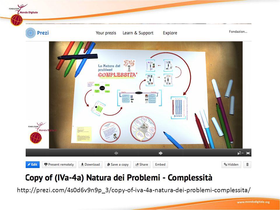 Prezi http://prezi.com/4s0d6v9n9p_3/copy-of-iva-4a-natura-dei-problemi-complessita/