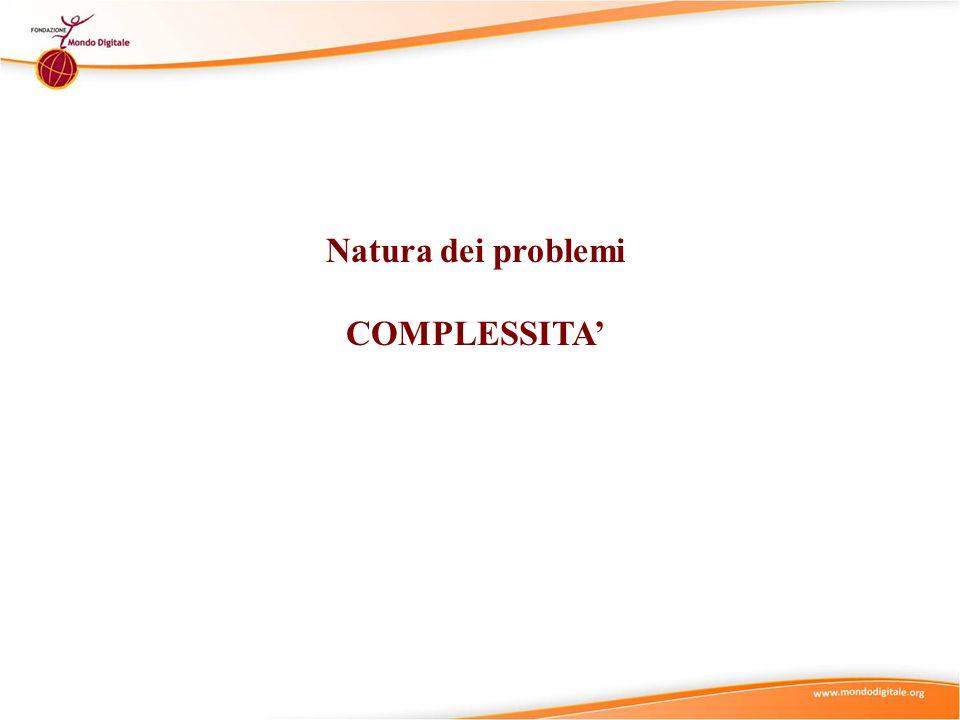Natura dei problemi COMPLESSITA'