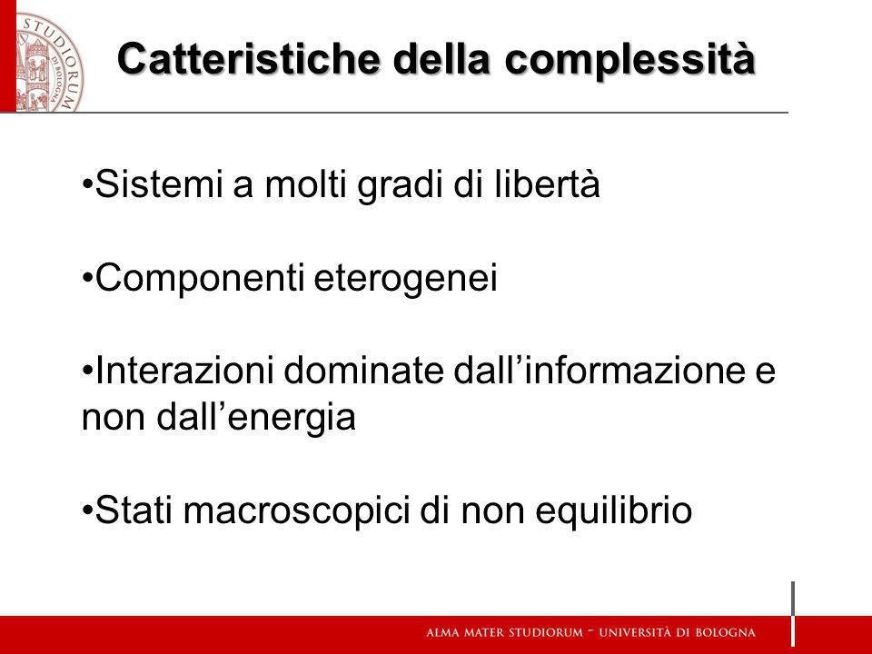 Catteristiche della complessità