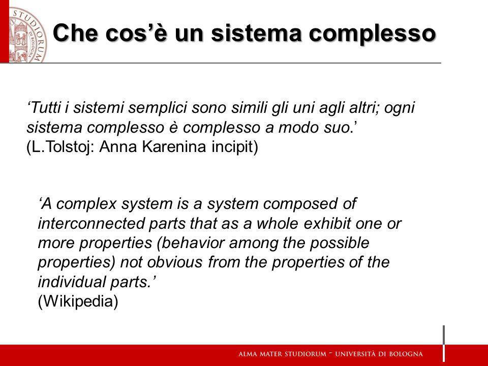 Che cos'è un sistema complesso