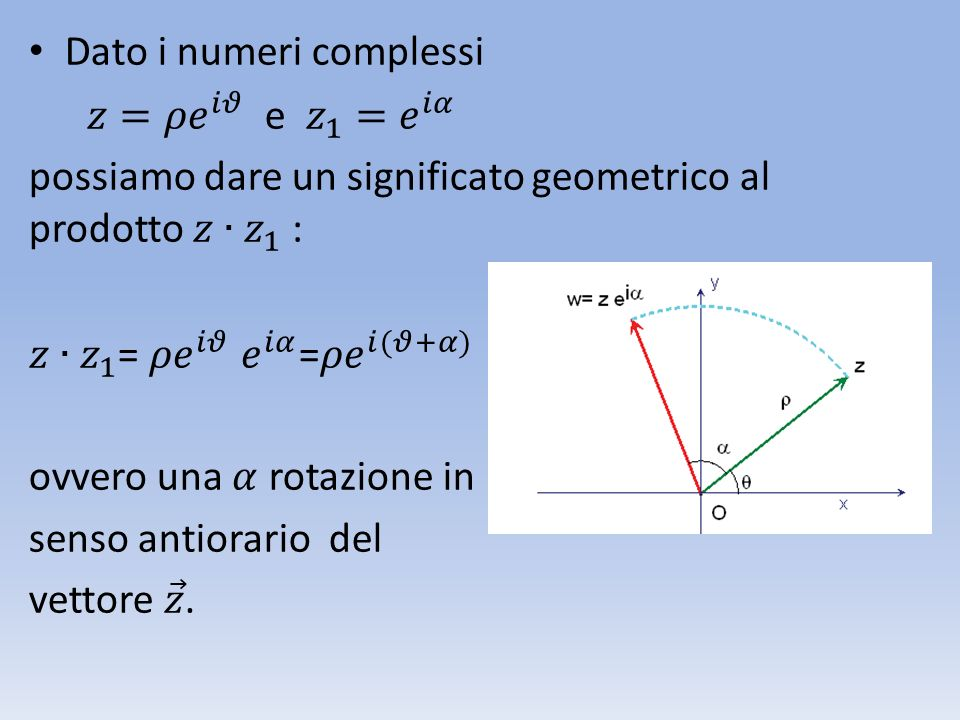 Dato i numeri complessi