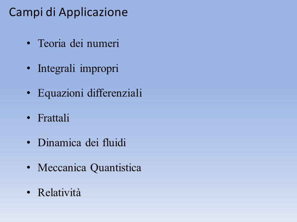 Campi di Applicazione Teoria dei numeri Integrali impropri