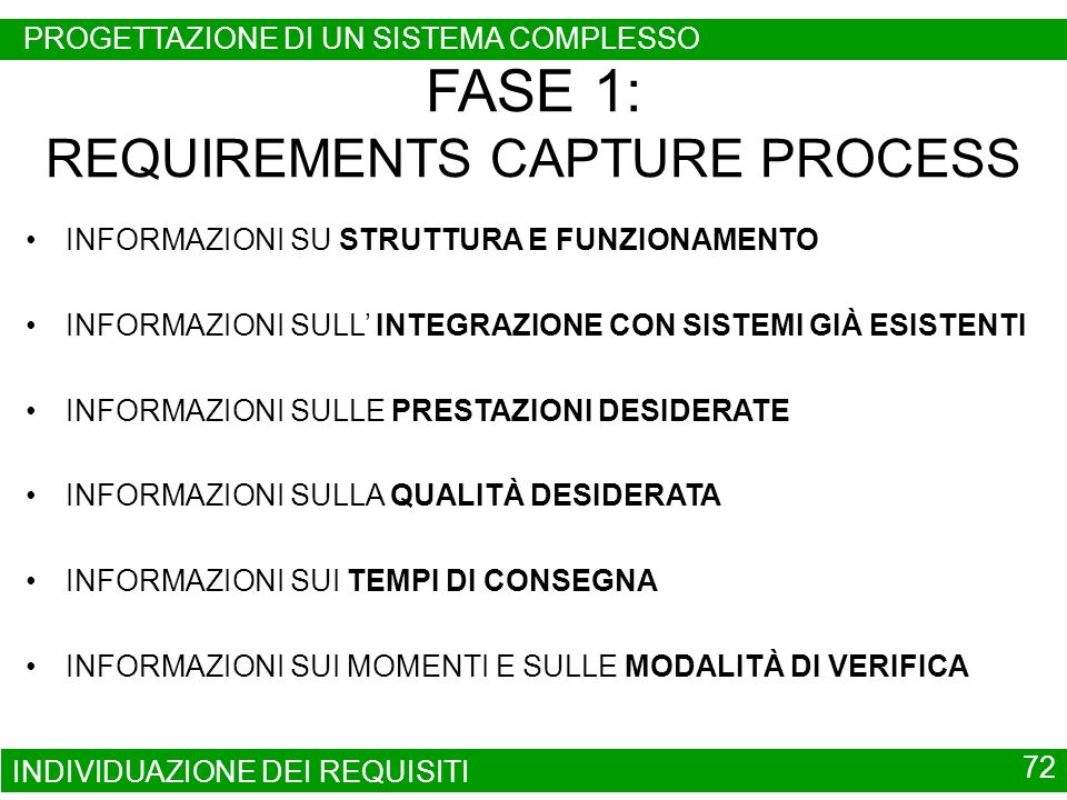 FASE 1: REQUIREMENTS CAPTURE PROCESS