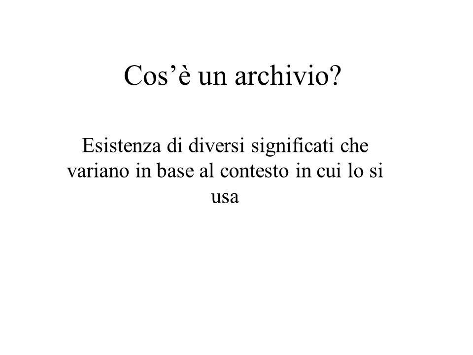 Cos'è un archivio.