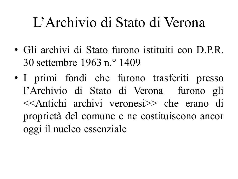 L'Archivio di Stato di Verona