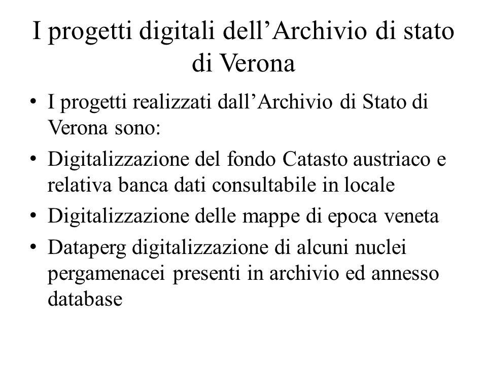 I progetti digitali dell'Archivio di stato di Verona
