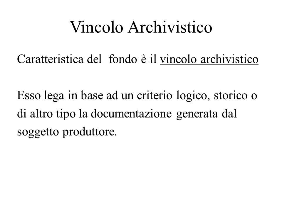 Vincolo Archivistico